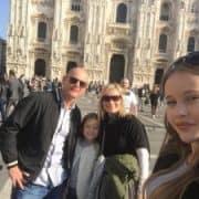 Milan - Duomo family photo